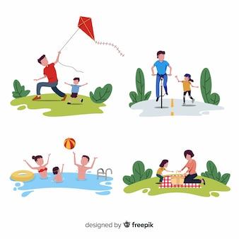 Actividades familiares al aire libre