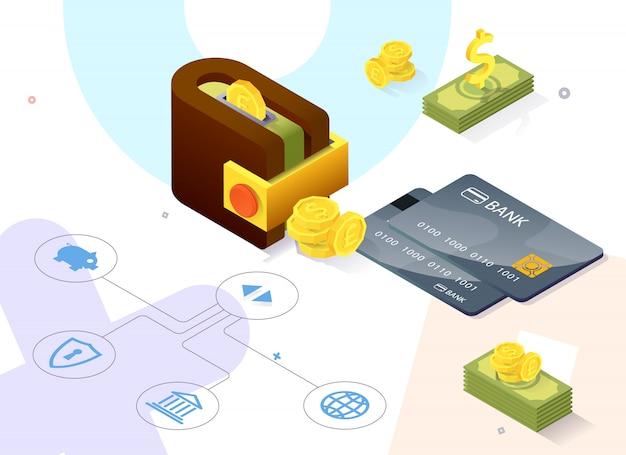 Actividades rápidas de banca en línea de comercio de carteles