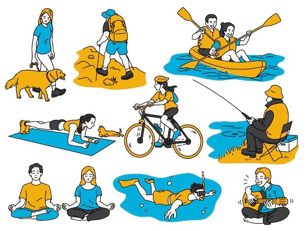 Actividades recreativas de personas