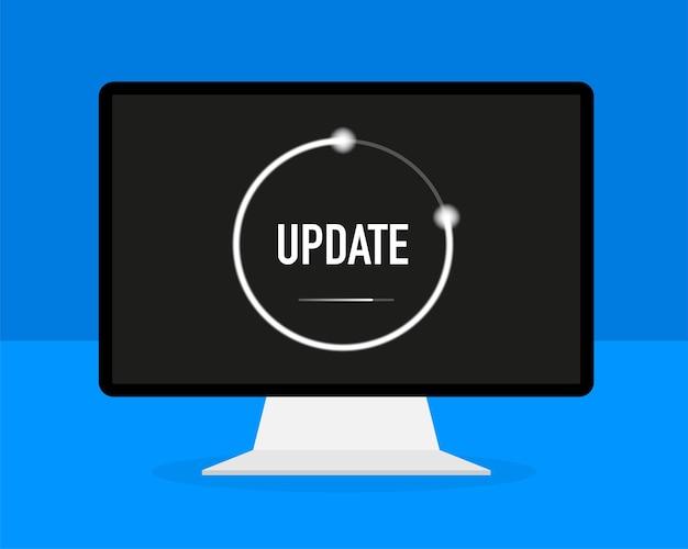 Actualización de datos o sincronización con el proceso de la barra