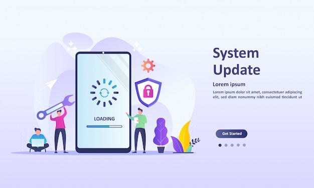 Actualización del sistema mejora cambio nueva versión