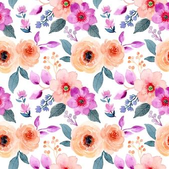 Acuarela abstracta floral de patrones sin fisuras