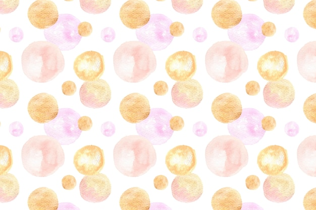 Acuarela abstracta manchas circulares de patrones sin fisuras