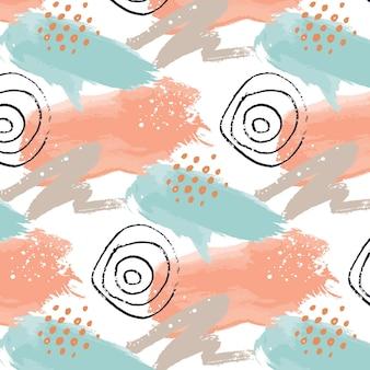 Acuarela abstracta de patrones sin fisuras con círculos