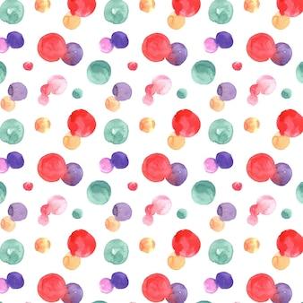 Acuarela abstracta de patrones sin fisuras con puntos