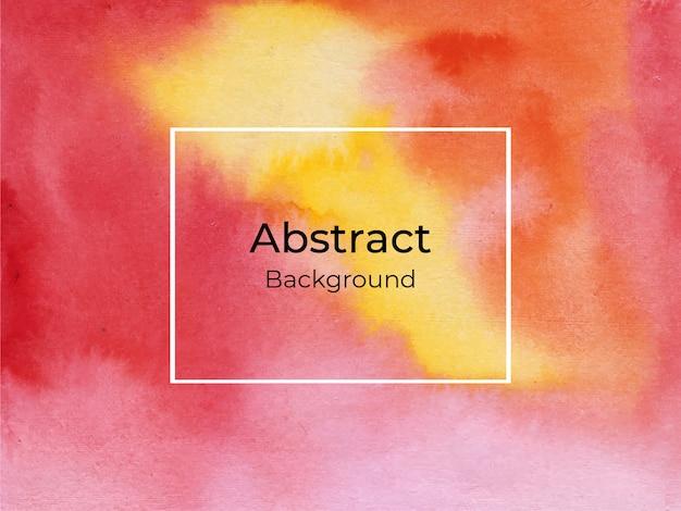 Acuarela abstracta roja y amarilla