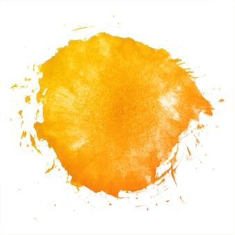 Acuarela abstracta splash naranja