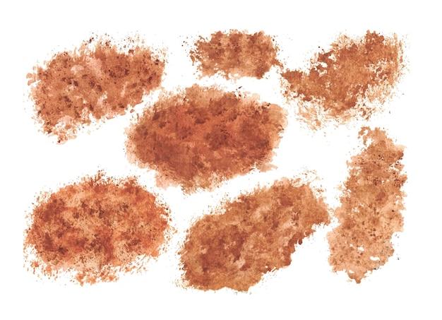 Acuarela anochecer textura mano pintura acuarela