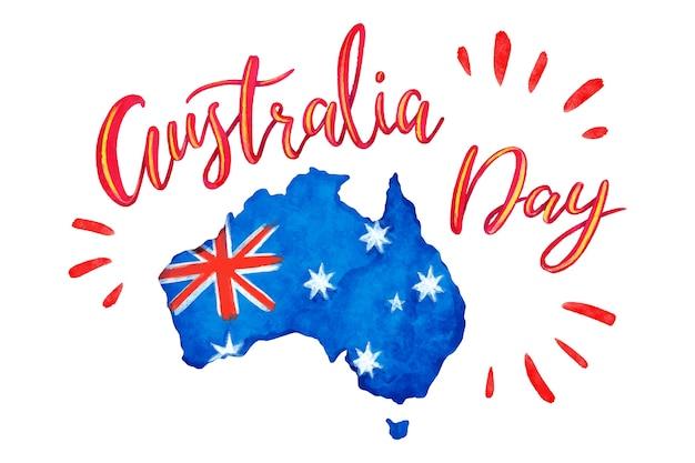 Acuarela australia day