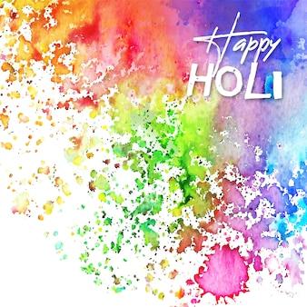 Acuarela colores vivos festival holi con manchas