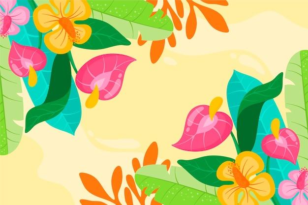Acuarela colorida ilustración floral