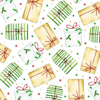 Acuarela colorida navidad patrón de fondo