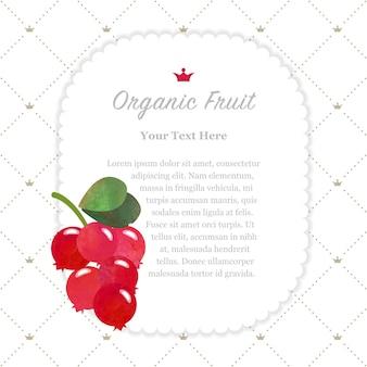 Acuarela colorida textura naturaleza fruta orgánica marco de nota arándano arándano arándano
