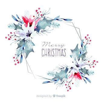 Acuarela decoración navideña