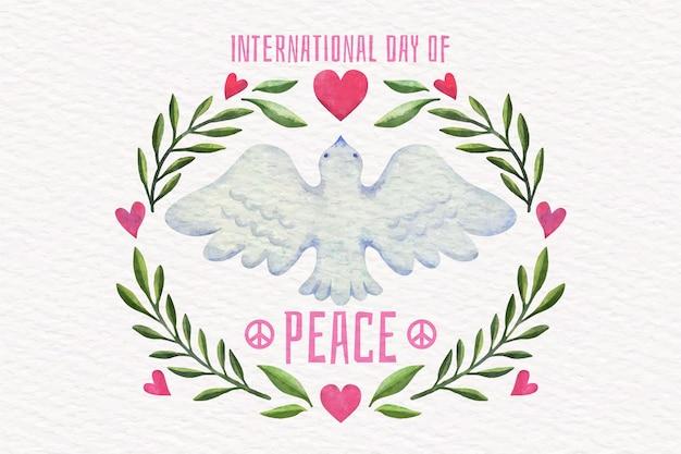 Acuarela día internacional de la paz