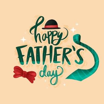 Acuarela del día del padre en letras