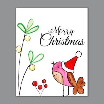 Acuarela elemento de navidad tarjetas