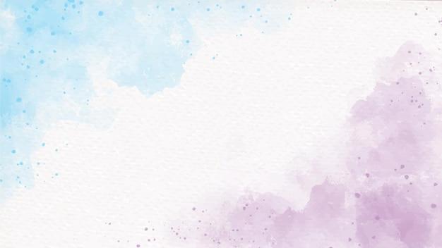 Acuarela femenina unicornio pastel arco iris azul y violeta sobre fondo abstracto de papel