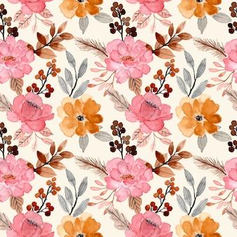 Acuarela floral bloosom de patrones sin fisuras