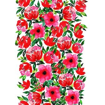 Acuarela floral fondo polivalente