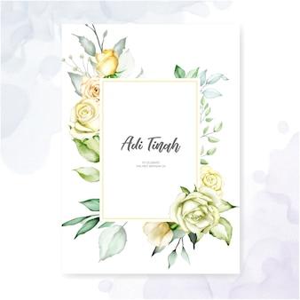 Acuarela floral marco multiusos fondo