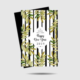 Acuarela florales tarjetas