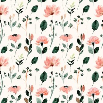 Acuarela de flores silvestres de patrones sin fisuras