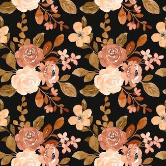 Acuarela de flores vintage de patrones sin fisuras