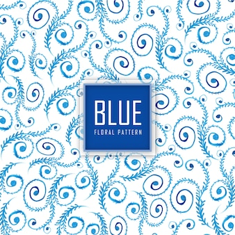 Acuarela fondo floral azul de fondo
