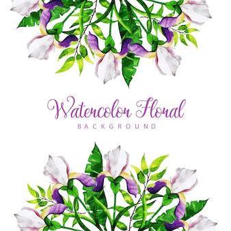 Acuarela fondo floral multiuso