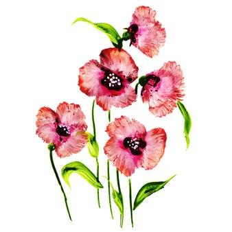 Acuarela de fondo floral de san valentín