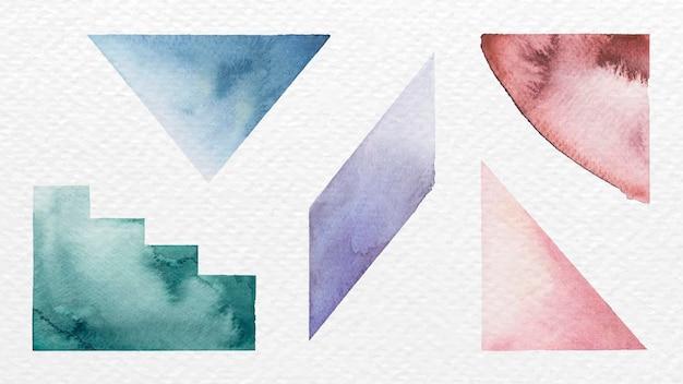 Acuarela geométrica colorida pintada a mano