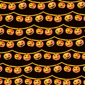 Acuarela de halloween elementos de fondo