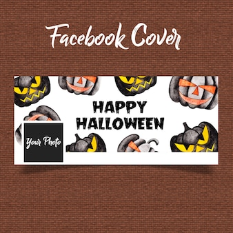 Acuarela halloween facebook cover