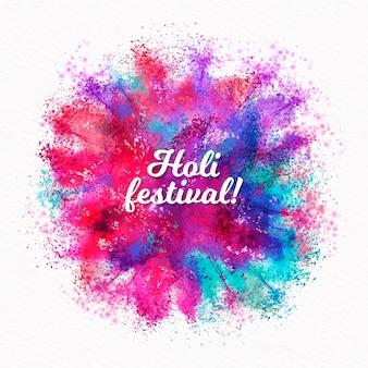 Acuarela holi festival letras