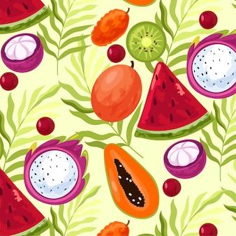 Acuarela de ilustración de frutas coloridas