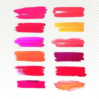 Acuarela mano colorido dibujar trazo set vector diseño