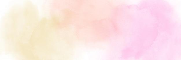 Acuarela pastel amarillo claro, naranja y rosa