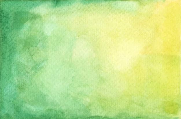 Acuarela pastel textura pintada de verde y amarillo. fondo abstracto.