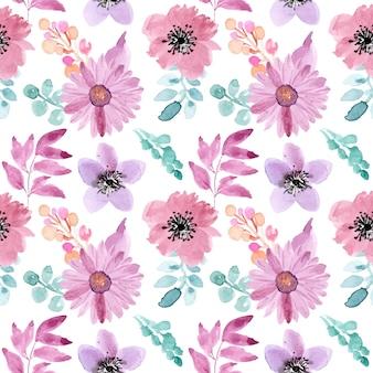 Acuarela de patrones sin fisuras floral