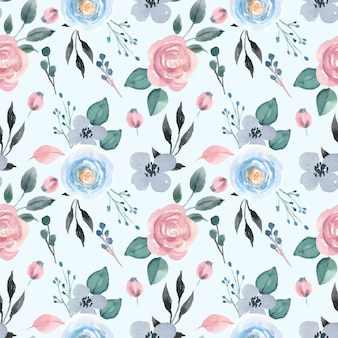 Acuarela de patrones sin fisuras con rosa pastel