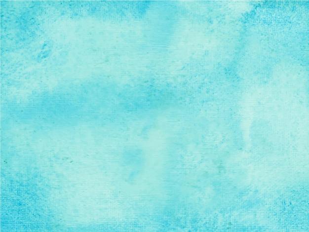 Acuarela pintada a mano abstracta azul