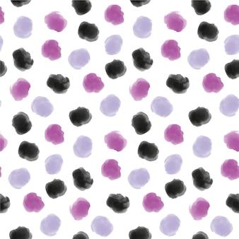 Acuarela pintada patrón dotty