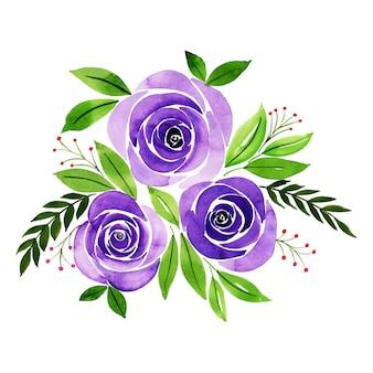 Acuarela ramo floral de san valentín