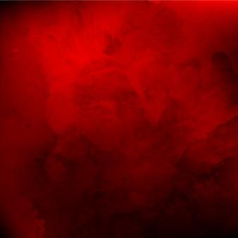Acuarela real de fondo rojo de san valentín