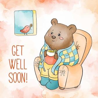 La acuarela se recupera pronto oso