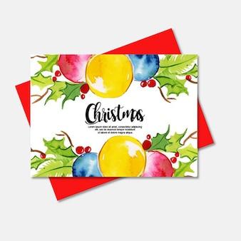 Acuarela tarjetas de navidad