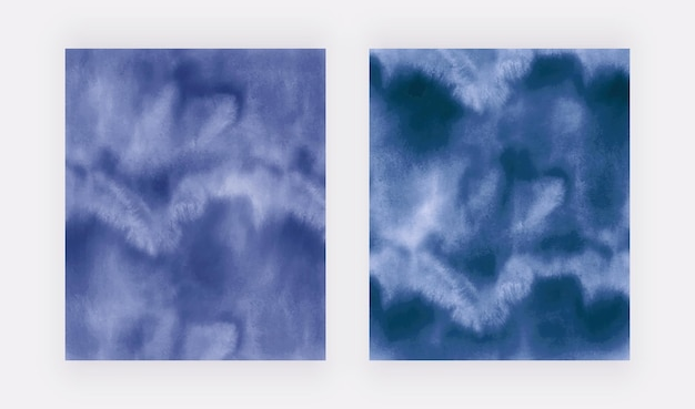 Acuarela de trazo de pincel azul marino