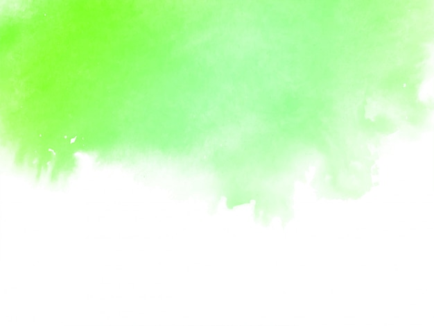 Acuarela verde abstracta