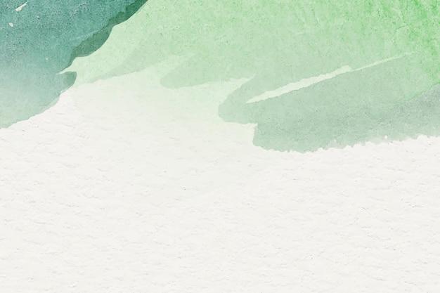 Acuarela verde sobre fondo beige
